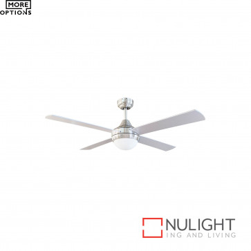 Tempo-Ii 48 Inch Ceiling Fan With 2Xe27 Light-Chrome With Blades BRI