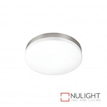 Aurora 22W T5 Ceiling Light Brushed Chrome With Opal Glass BRI