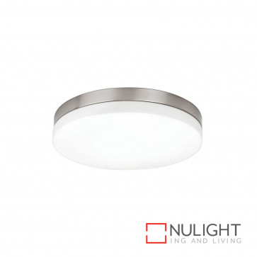 Aurora 32W T5 Ceiling Light Brushed Chrome With Opal Glass BRI