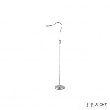 Altrani 5W Led Floor Lamp - Brush Steel BRI