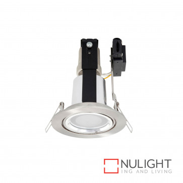 Uni 8 Gimbal Cfl Downlight With Glass Cover Inc 15W E27 Cfl Globe - Br Steel BRI