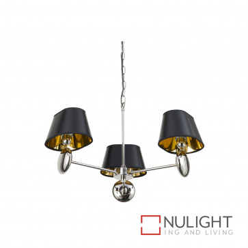 Lozi 3 Light Pendant Polished Nickel BRI