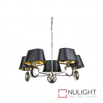 Lozi 5 Light Pendant Polished N Ickel BRI