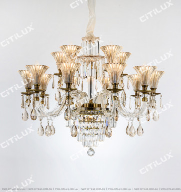 European Classical Double Tiers Crystal Chandelier Citilux