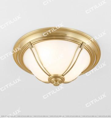 All-Copper American Semi-Arc Ceiling Lamp Citilux