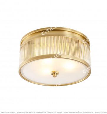 Copper Glass Rod American Ceiling Lamp Citilux
