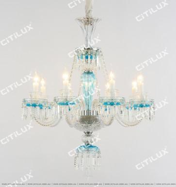 Scattered Blue Crystal Chandelier Citilux