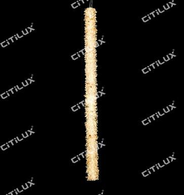 Natural Crystal Column Vertical Pendant Light Citilux
