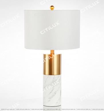 Modern Minimalist Jazz White Marble Table Lamp Citilux