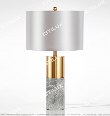 Modern Minimalist Rock Gray Marble Table Lamp Citilux