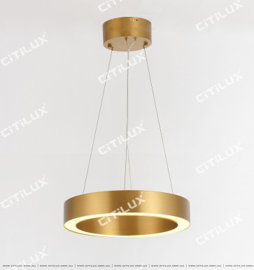 Stainless Steel Brushed Titanium Ring Chandelier Small Citilux