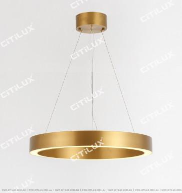 Stainless Steel Brushed Titanium Ring Chandelier Medium Citilux