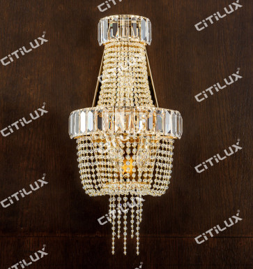 Simple European Crystal Wall Lamp Citilux