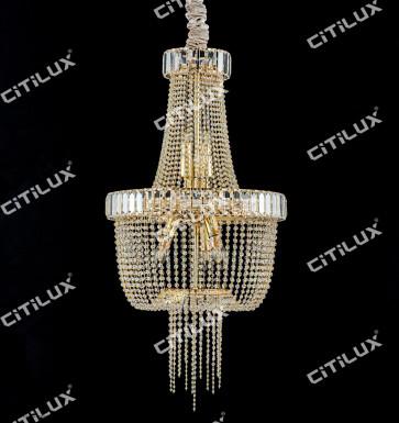 Simple European Crystal Chandelier Medium Citilux