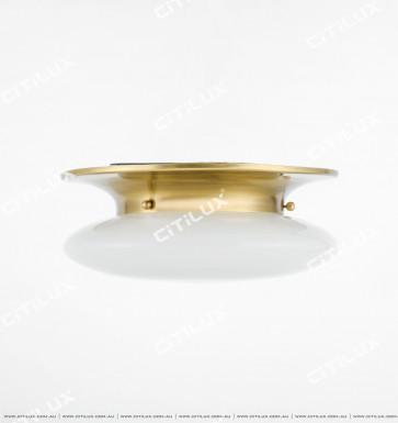 Copper Matte Glass Bread Ceiling Lamp Small Citilux