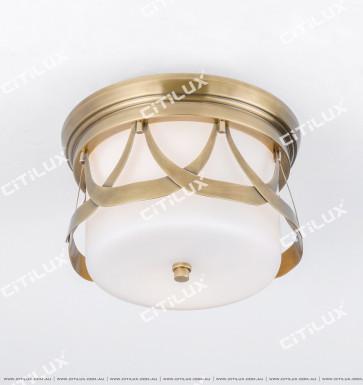 American Copper Aisle Ceiling Lamp Citilux