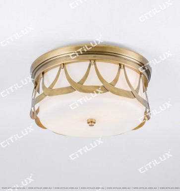 American Copper Lace Ceiling Lamp Citilux
