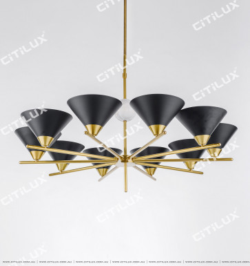 American Copper Black Black Hood Chandelier Citilux