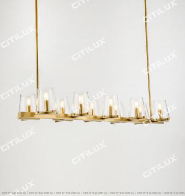 Simple American Copper Single-Head Glass Chandelier Citilux