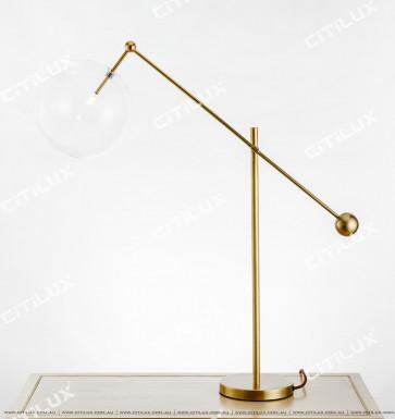 Full Copper Simple Head Transparent Glass Table Lamp Citilux