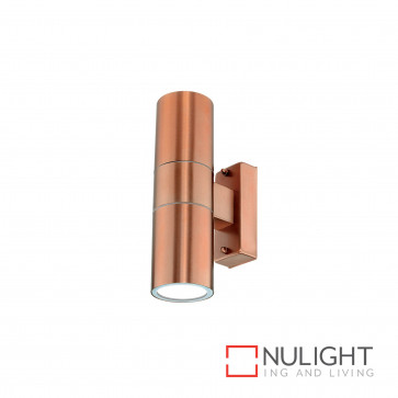 Denver-Ii Up And Down Wall Light Inc 4W Led Globes-304 Copper BRI