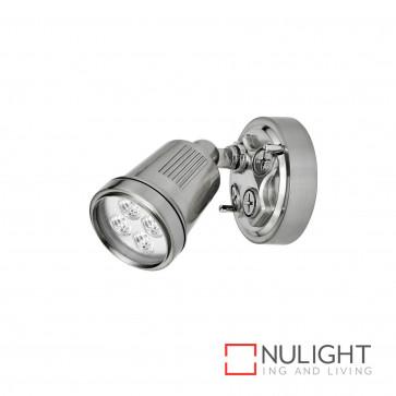 Hunter 1 Light Led Floodlight - Brushed Aluminium BRI