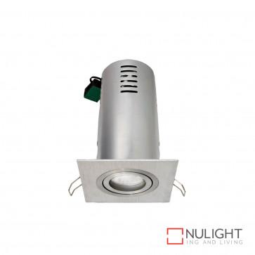 Riess Square Gimbal Downlight Gu10 Inc Heat Can-Brushed Aluminium BRI