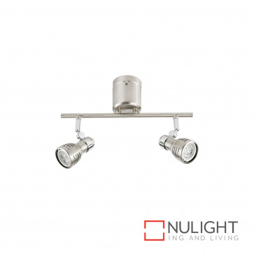 Sorrento Diy 6W Led Gu10 2 Light Spotlight-Brushed Steel Globes Inc BRI