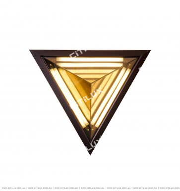 Triangle Amber Disc Shadow Wall Light Citilux