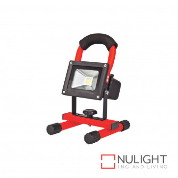 Portalamp 10W Led Rechargeable Floodlight-Red BRI