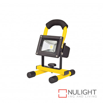 Portalamp 10W Led Rechargeable Floodlight-Yellow BRI