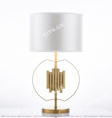 Modern Stainless Steel Arc Table Lamp Citilux
