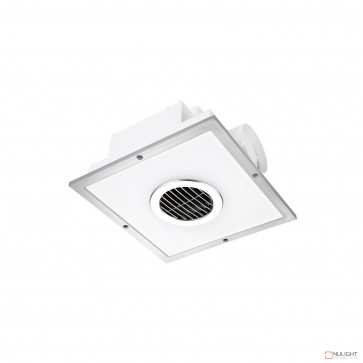 Taranto Square Exhaust Fan And Led Light - Silver BRI