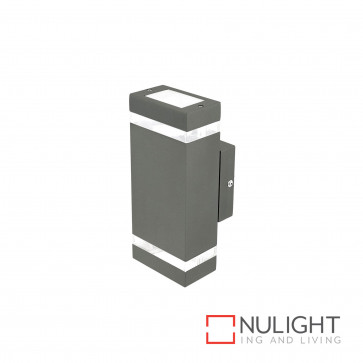 Entasis Rectangular Up And Down Wall Light Charcoal BRI
