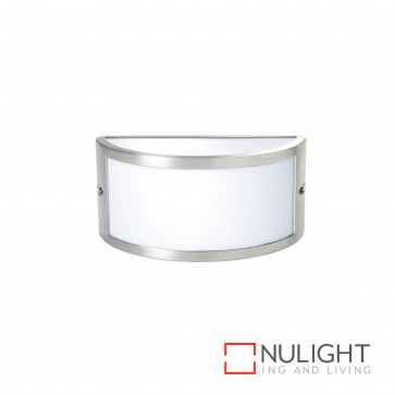 Chatri Curved Up And Down And Out Wall Light Brushed Aluminium BRI