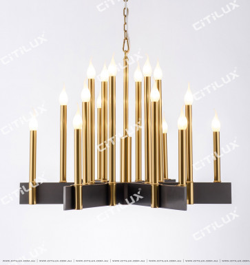 Modern Minimalist Row Candle Large Chandelier Citilux