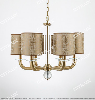 New Ancient Steel Antique Copper Cone Tube Small Chandelier Citilux