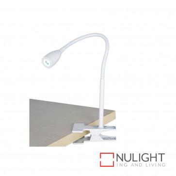 Sassy 3W Led Clip-On Lamp-White BRI