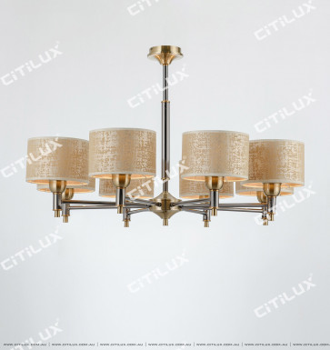 Neoclassical Pearl Black Bronze Two-Color Chandelier Citilux