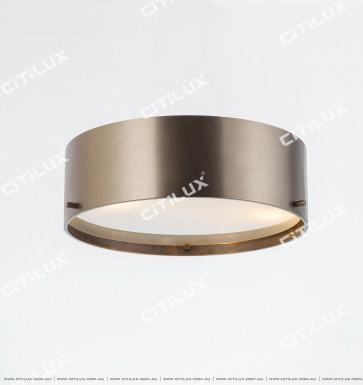 Modern Minimalist Stainless Steel Bronze Bronze Ceiling Lamp Citilux