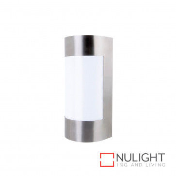 Lancet Curved Wall Light Stainless Steel BRI