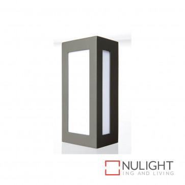 Eave Rectangular Open-Faced Wall Light - Charcoal BRI