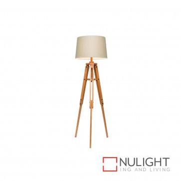 Anchor 1580Mm Timber Tripod Floor Lamp - Natural BRI