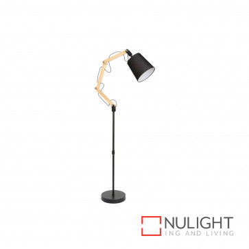 Pix 1540 Timber Anglpoise Floor Lamp - Black BRI