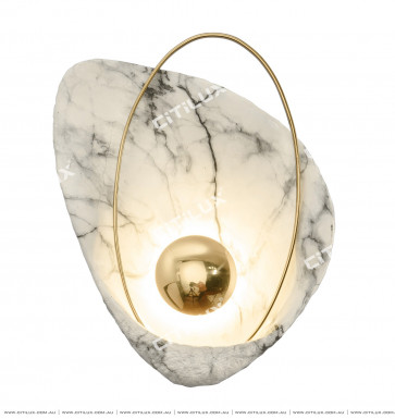 Stainless Steel Jazz White Shell Wall Lamp Citilux