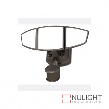 Trident 3 Light Security Dual Illumination Led Security Light-Bronze BRI
