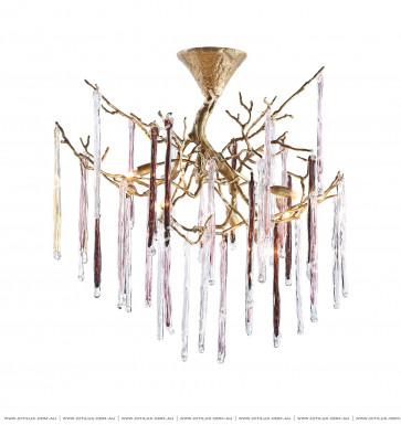Copper Glazed Ice Strip Ceiling Lamp Citilux