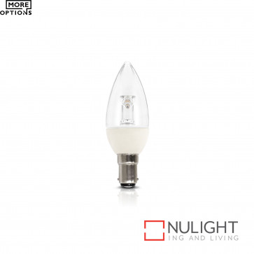Globe - Candle Led 4W 250Lm 3000K Clear Non-Dimmable BRI