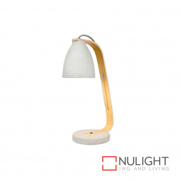 Tinker 460Mm Concrete And Ply Table Lamp - Grey BRI