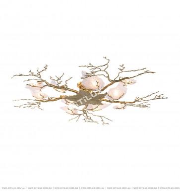 Copper Maple Leaf Ceiling Light Citilux